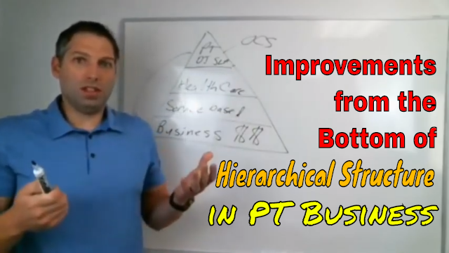 Improvements from the Bottom of Hierarchical Structure in PT Business
